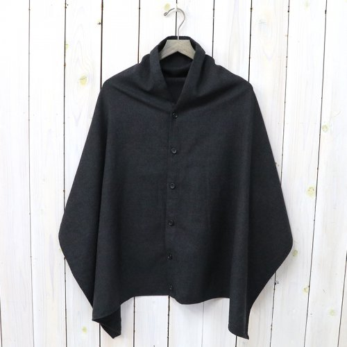『Button Shawl-Worsted Wool Flannel』(H.Charcoal)