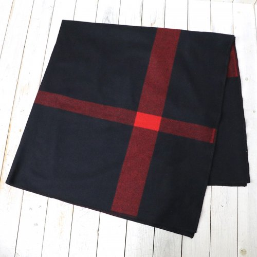 『Blanket Cape-Big Plaid Wool Melton』(Black)