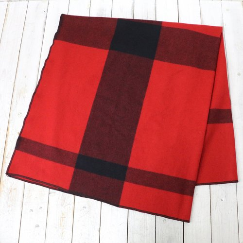 『Blanket Cape-Big Plaid Wool Melton』(Red)