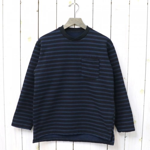 『Long Sleeve Crew Neck-St.20oz French Terry』(Black/Navy)