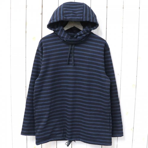 『Long Sleeve Hoody-St.20oz French Terry』(Black/Navy)