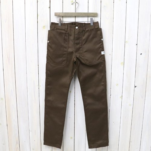 『FALL LEAF SPRAYER PANTS(T/C CHINO)』(BROWN)