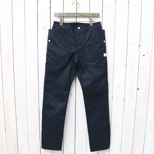SASSAFRAS『FALL LEAF SPRAYER PANTS(T/C CHINO)』(NAVY)