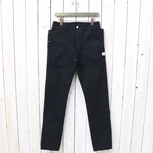 『FALL LEAF SPRAYER PANTS(HERRINGBONE)』(BLACK)