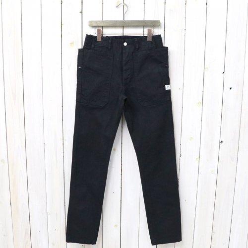 SASSAFRAS『FALL LEAF SPRAYER PANTS(HERRINGBONE)』(BLACK)