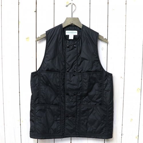 『LEAF BLOWER VEST(NYLON QUILTING)』(BLACK)