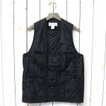 SASSAFRAS『LEAF BLOWER VEST(NYLON QUILTING)』(BLACK)