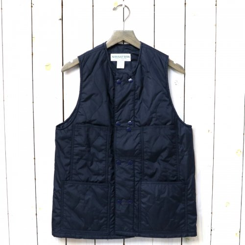 SASSAFRAS『LEAF BLOWER VEST(NYLON QUILTING)』(NAVY)