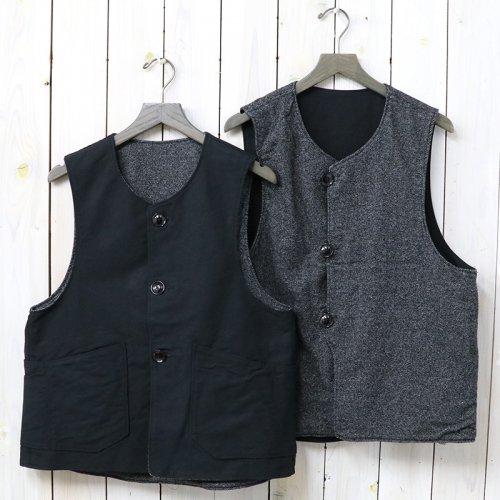 『Over Vest-Homespun/Cotton Double Cloth』