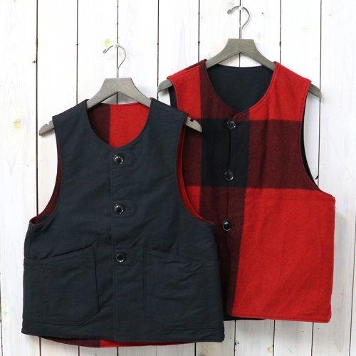『Over Vest-Plaid/Cotton Double Cloth』(Black&Red)