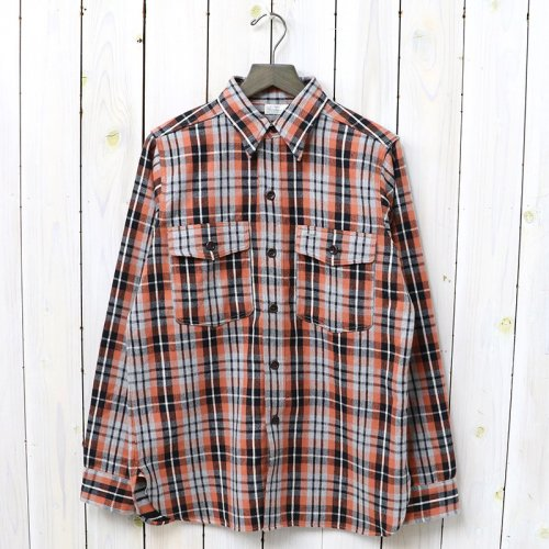 『Lot 3022 FLANNEL SHIRTS WITH CHINSTRAP』(GREY)