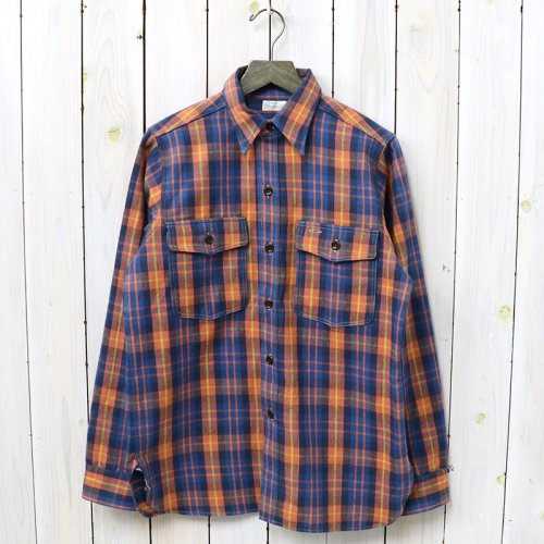 『Lot 3022 FLANNEL SHIRTS WITH CHINSTRAP』(BLUE)
