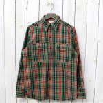 WAREHOUSE『Lot 3022 FLANNEL SHIRTS WITH CHINSTRAP』(GREEN)