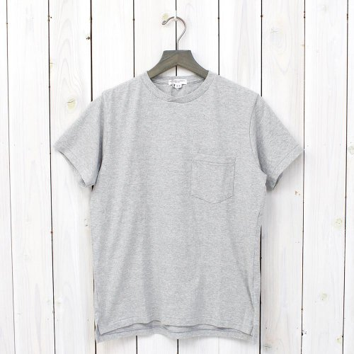 『Crossover Neck Pocket Tee』(Grey)