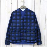SASSAFRAS『GARDENIA HUNTER JACKET(PRINT FLANNEL)』(BLUE)