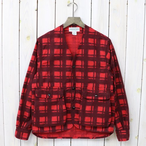 『GARDENIA HUNTER JACKET(PRINT FLANNEL)』(RED)