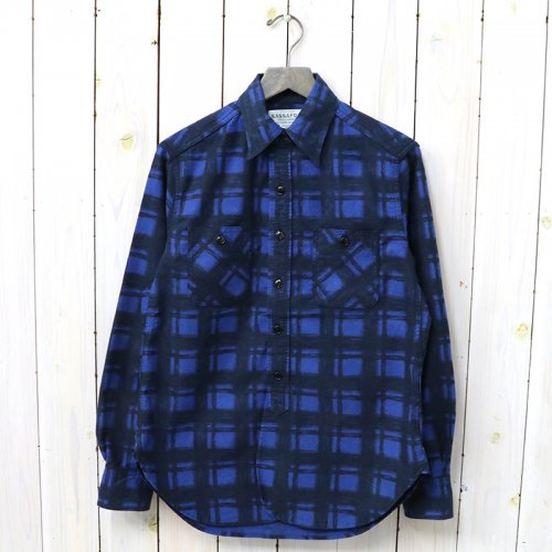 『SPRAYER SHIRT(PRINT FLANNEL)』(BLUE)