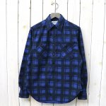 SASSAFRAS『SPRAYER SHIRT(PRINT FLANNEL)』(BLUE)