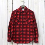 SASSAFRAS『SPRAYER SHIRT(PRINT FLANNEL)』(RED)