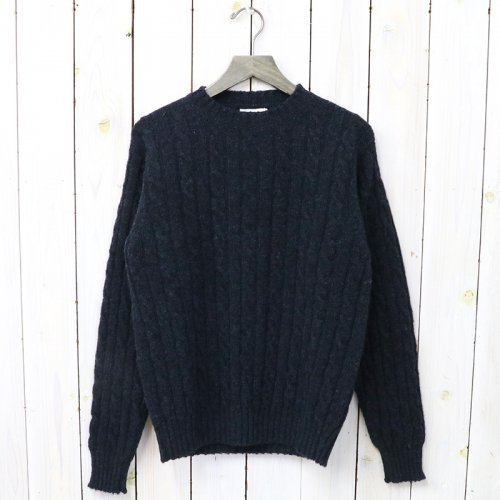 Jamieson's『CABLE CREW-NECK PULLOVER』(COSMOS)