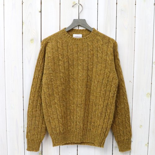 Jamieson's『CABLE CREW-NECK PULLOVER』(BURNT OCHRE)