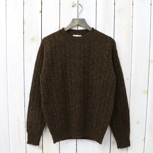 『CABLE CREW-NECK PULLOVER』(BIRCH)