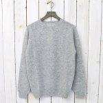 INVERALLAN『Crew Neck Sweater-Saddle』(Silver)