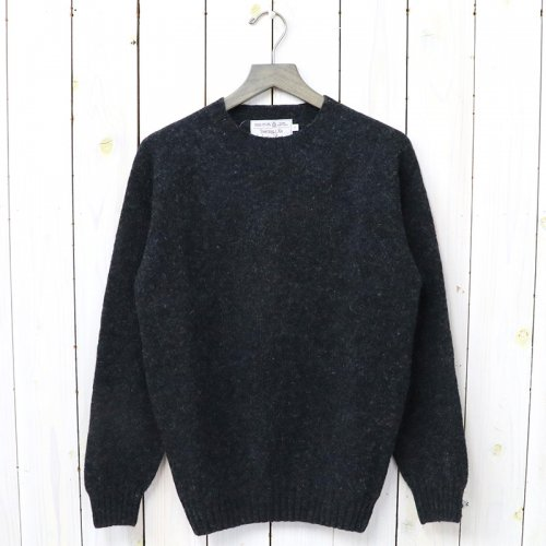 『Crew Neck Sweater-Saddle』(Charcoal)