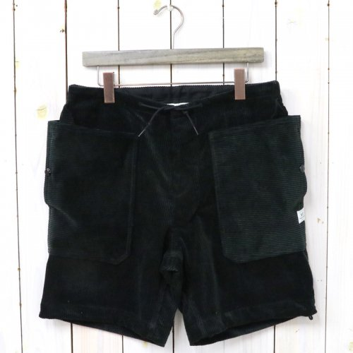 『FALL LEAF OVER PANTS 1/2(CORDUROY)』(BLACK)