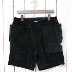 SASSAFRAS『FALL LEAF OVER PANTS 1/2(CORDUROY)』(BLACK)