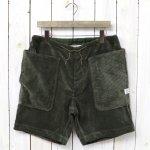 SASSAFRAS『FALL LEAF OVER PANTS 1/2(CORDUROY)』(OLIVE)