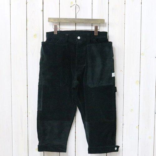SASSAFRAS『FALL LEAF GARDENER PANTS 2/3(CORDUROY)』(BLACK)