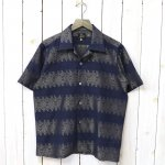 Needles『Cut-Off Bottom S/S One-Up Shirt-R/C/Pe Jacquard/Arabesque』(Navy)