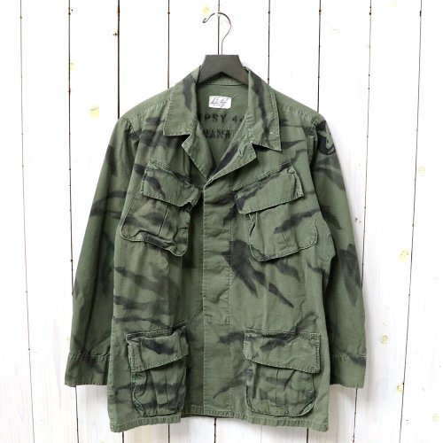 『GYPSY TIGER STRIPE HAND STENCIL JANGLE FATIGUE JACKET』(OLIVE-B)
