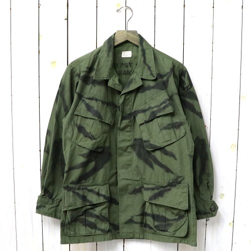 『GYPSY TIGER STRIPE HAND STENCIL JANGLE FATIGUE JACKET』(OLIVE-A)