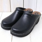 Troentorp『Swedish Clog-Plain Toe/Smooth』(Black/Black)