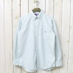 THE NORTH FACE PURPLE LABEL『Cotton Polyester Stripe OX B.D. Big Shirt』(Green)