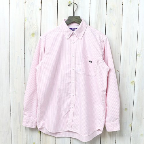 【SALE特価40%off】THE NORTH FACE PURPLE LABEL『Cotton Polyester Stripe OX B.D. Big Shirt』(Pink)