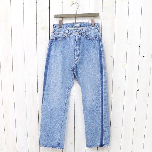 【SALE特価30%off】Kaptain Sunshine『Baggy Cut Straight Denim Pants(Washed&remaked Side-seam)』