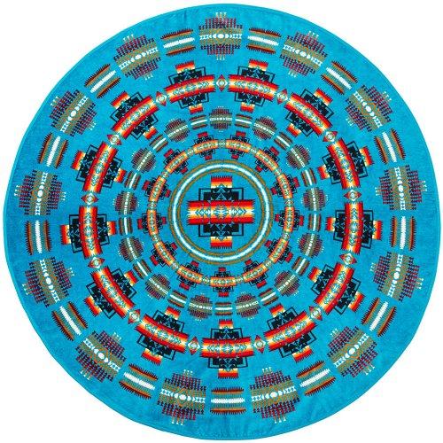 PENDLETON『Printed Round Towel』(Chief Jospeh Turquoise)