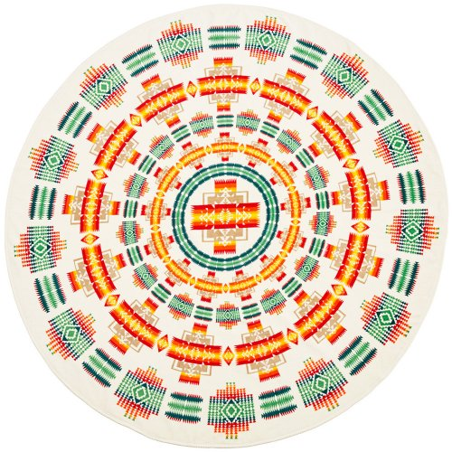 PENDLETON『Printed Round Towel』(Chief Jospeh Ivory)