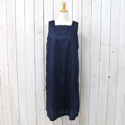 『Square Neck Dress-Tone&Tone Dobby St.』(Dk.Navy)