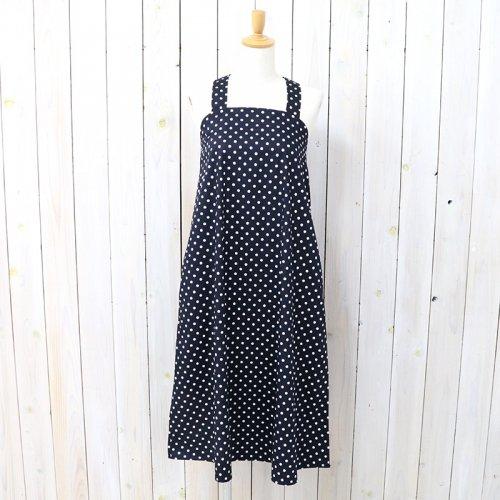 『Cross Back Dress-Big Polka Dot Broadcloth』