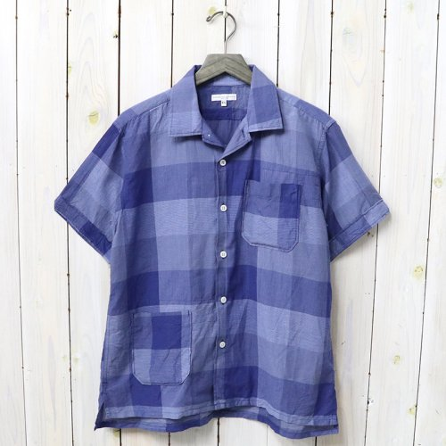 ENGINEERED GARMENTS『Camp Shirt-Block Check CL Lawn』(Blue)