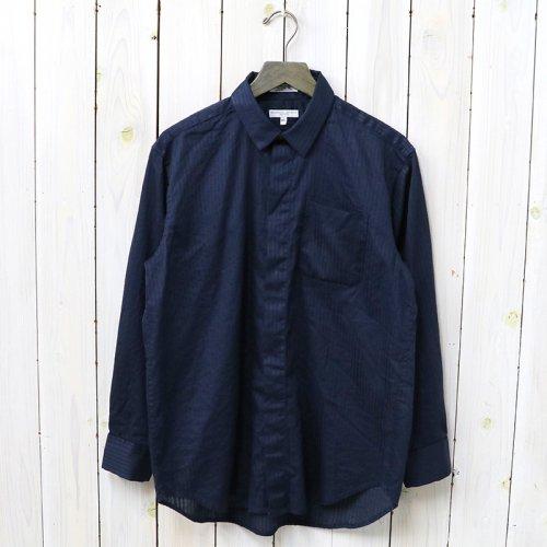 『Short Collar Shirt-Tone&Tone Dobby St.』(Dk.Navy)