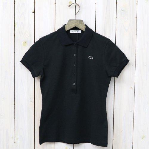 LACOSTE『ストレッチ ピケ ポロシャツ(半袖)』(ブラック)