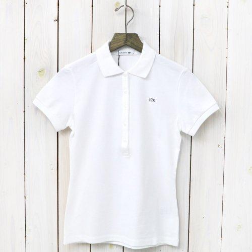 LACOSTE『ストレッチ ピケ ポロシャツ(半袖)』(ホワイト)
