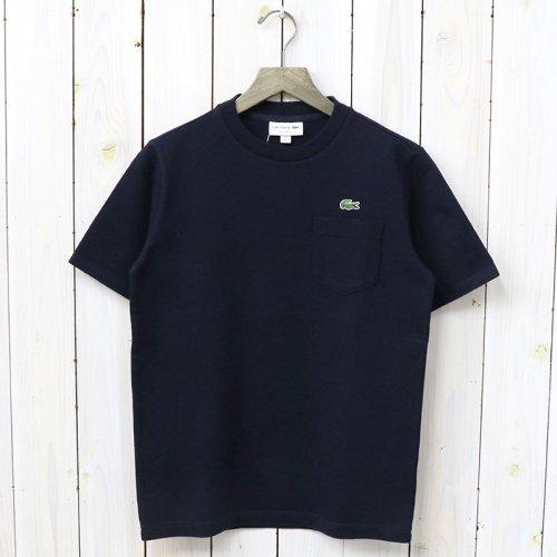 LACOSTE『コットンピケTシャツ(半袖)』(ネイビー)