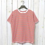 nanamica『COOLMAX® St.Jersey Tee』(Sunrise Red×White)