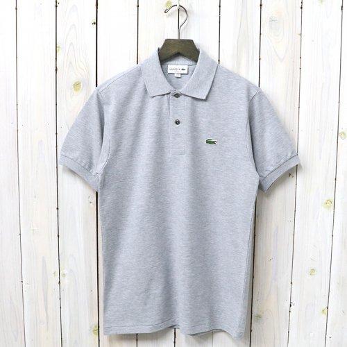 LACOSTE『ポロシャツ(杢・半袖)』(ライトグレー)